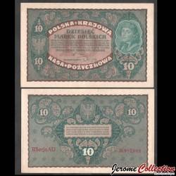 POLOGNE - Billet de 10 Marek - Tadeusz Kościuszko - 1919 P25a