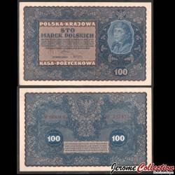 POLOGNE - Billet de 100 Marek - Tadeusz Kościuszko - 1919 P27c