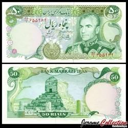 IRAN - Billet de 50 Rials - Mausolée de Cyrus - 1977 P101e