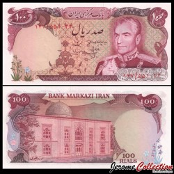 IRAN - Billet de 100 Rials - Shah Mohammad Reza Pahlavi - 1975 P102b