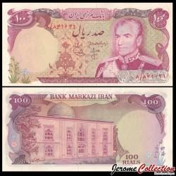 IRAN - Billet de 100 Rials - Shah Mohammad Reza Pahlavi - 1974 P102a