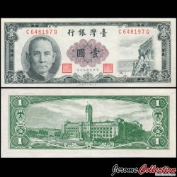 TAIWAN - Billet de 1 Yuan - Palais présidentiel - 1961 P1971b