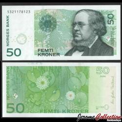 NORVEGE - Billet de 50 Kroner - Peter Christen Asbjørnsen - 2005 P46c2