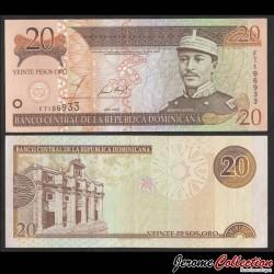 REPUBLIQUE DOMINICAINE - Billet de 20 Pesos Oro - Gregorio Lúperon - 2002 P169b