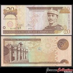 REPUBLIQUE DOMINICAINE - Billet de 20 Pesos Oro - Gregorio Lúperon - 2000 P160a