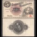 SUEDE - Billet de 5 Kronor - Svea / Roi Gustav Vasa - F - 1949 P33af6