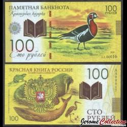 RUSSIE - Billet de 100 Roubles - Livre rouge de Russie - Oie à poitrine rousse - Polymer - 2020 redbook_oie