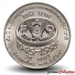 THAILANDE - PIECE de 2 Baht - 50 ans de la FAO - 1995