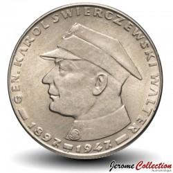 POLOGNE - PIECE de 10 Zlotych - Général Swierczewski - 1967 Y#58