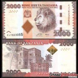 TANZANIE - Billet de 2000 Shillings - Tête de lion - 2010 P42a