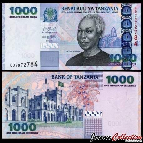 TANZANIE - Billet de 1000 Shillings - Julius Kambarage Nyerere - 2003 P36a