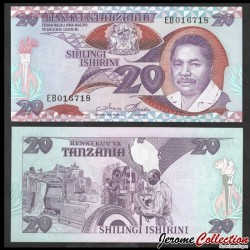 TANZANIE - Billet de 20 Shilingi - Usine de pneus - 1987 P15a