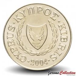CHYPRE - PIECE de 2 Cents - Couple d'animaux - 2004