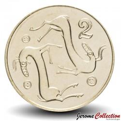 CHYPRE - PIECE de 2 Cents - Couple d'animaux - 2004 Km#54.3