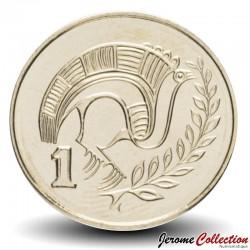 CHYPRE - PIECE de 1 Cent - Oiseau stylisé - 2004 Km#53.3