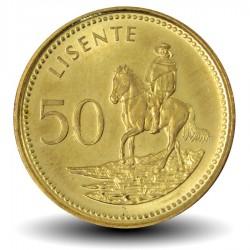 LESOTHO - PIECE de 50 Lisente - Cavalier - 2010 Km#65