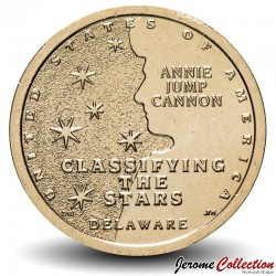 ETATS UNIS / USA - PIECE de 1 Dollar - Industrie et l'innovation - Classification des étoiles - Delaware - D - 2019 Km#new