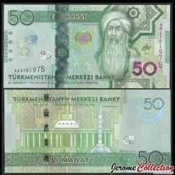 TURKMENISTAN - Billet de 50 Manat - 25e anniversaire de la neutralité - 2050 P46a
