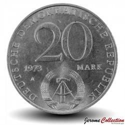 ALLEMAGNE DE L'EST / DDR / RDA - PIECE de 20 Marks - Otto Grotewohl - 1973