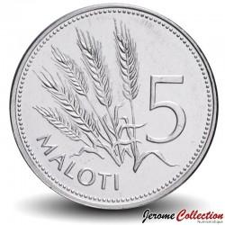LESOTHO - PIECE de 5 Maloti - Epis de blé - 2010 Km#59