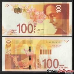ISRAEL - Billet de 100 Nouveaux Shekels - Leah Goldberg - 2020 P67b