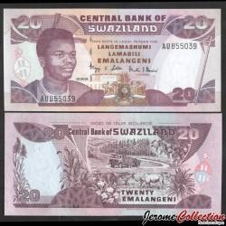 SWAZILAND (Eswatini) - Billet de 20 Emalangeni - Roi Mswati III - 2004 P30b