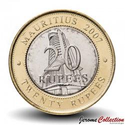 MAURICE - PIECE de 20 Roupies - Banque de l'Île Maurice - Bimétallique - 2002 Km#66