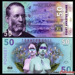 PONEET ISLANDS - Billet de 50 Kasutu - Sir Kohnet Bregman - 2016