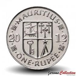 MAURICE - PIECE de 1 Roupie - Armoiries de Maurice - 2012 Km#55a