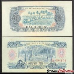 SUD VIETNAM - Billet de 10 xu - Récolte du sel - 1966