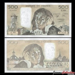 FRANCE - BILLET de 500 Francs - Blaise Pascal - 1.2.1990