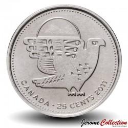 CANADA - PIECE de 25 Cents - Nature légendaire au Canada - Faucon pèlerin - 2011 Km#1169