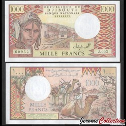 DJIBOUTI - Billet de 1000 Francs - Trains de voyageurs - 1991 P37d1