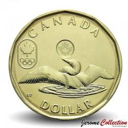 CANADA - PIECE de 1 DOLLAR - Dollar porte-bonheur - JEUX OLYMPIQUES - 2014 Km#1256