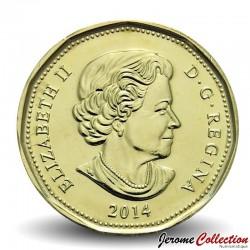 CANADA - PIECE de 1 DOLLAR - Dollar porte-bonheur - JEUX OLYMPIQUES - 2014