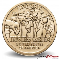ETATS UNIS / USA - PIECE de 1 Dollar - Industrie et l'innovation - Trustees' Garden - Géorgie - P - 2019 Km#new