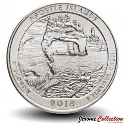 ETATS UNIS / USA - PIECE de 25 Cents - America the Beautiful - Apostle Islands National Lakeshore - Wisconsin - 2018 - S