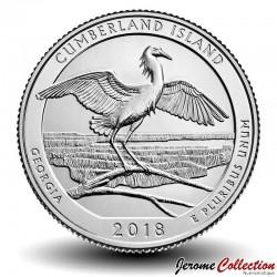 ETATS UNIS / USA - PIECE de 25 Cents - America the Beautiful - Cumberland Island National Seashore - Géorgie - 2018 - S Km#new