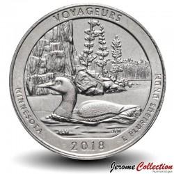 ETATS UNIS / USA - PIECE de 25 Cents - America the Beautiful - Voyageurs National Park - Minnesota - 2018 - S Km#New