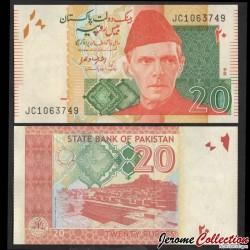 PAKISTAN - Billet de 20 Roupies - Mohenjo-daro - 2016 P55j