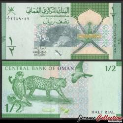 OMAN - Billet de 1/2 Riyal - Faucon fuligineux, léopard d'Arabie - 2020 P51a