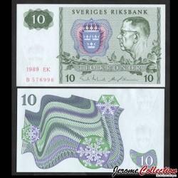 SUEDE - Billet de 10 Couronnes - Le roi Gustave VI Adolf - 1989 P52e7
