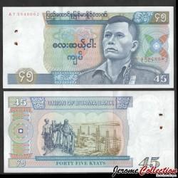 MYANMAR (ex-Birmanie) - Billet de 45 Kyats - Pho Hla Gyi - 1987 P64a