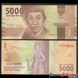 INDONESIE - Billet de 5000 Rupiah - 2018 P156c
