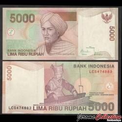 INDONESIE - Billet de 5000 Rupiah - 2009 P142i