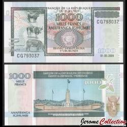 BURUNDI - Billet de 1000 Francs - 1.5.2009 P46a