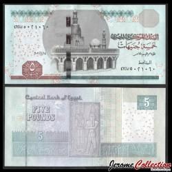 EGYPTE - Billet de 5 Pounds - Horus, Dieu du Nil - 31/1/2020 P72j