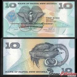 PAPOUASIE NOUVELLE GUINEE - Billet de 10 Kina - 25e anniversaire de la Banque - 1998 P17a