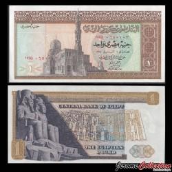 EGYPTE - Billet de 1 Livre - Temple de Abu Simbel - 1970 P44a2