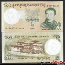BHOUTAN - Billet de 20 Ngultrum - 2006 P30a